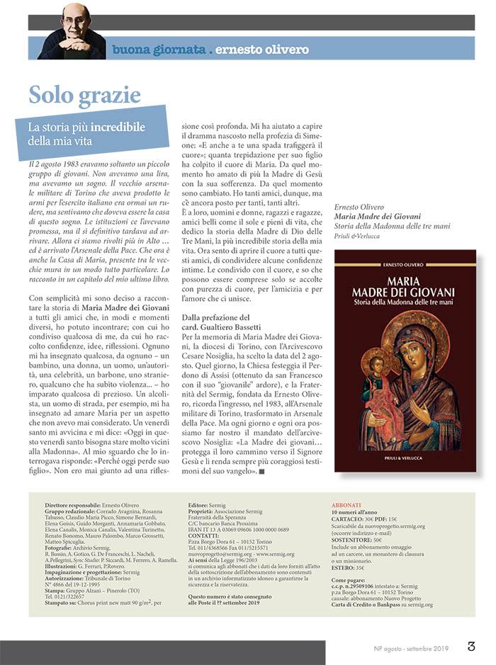 Editoriale - Agosto / Settembre 2019