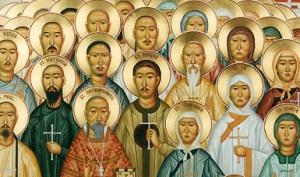 Icona raffigurante i martiri cinesi