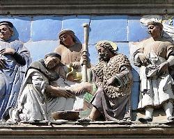 Santi Buglioni, Gesù simbolo del prossimo, Ospedale del ceppo, Pistoia