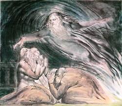 William Blake, Il signore rispone a Giobbe in mezzo a un turbine