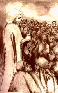 Odo Tinteri, Gesù predica tra la folla