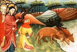 Alexander Master, Gesù risana l'uomo posseduto a Gerasa