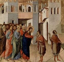 Duccio di Buoninsegna, Guarigione del cieco nato