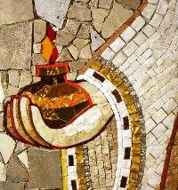 Artisti del centro Aletti, particolare di un mosaico