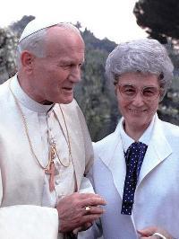 Chiara Lubich e Giovanni Paolo II