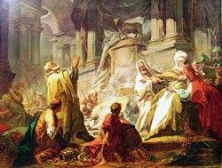 Jean Honoré Fragonard, Geroboamo sacrifica al vitello d'oro