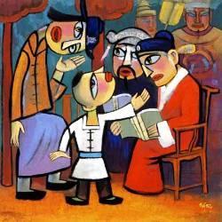 He Qi, Gesù fanciullo tra i dottori