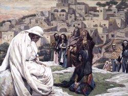 James Tissot, Gesù piange su Gerusalemme
