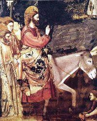 Giotto di Bondone, Ingresso a Gerusalemme