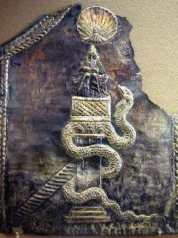 Rappresentazione del VI secolo di Simeone sulla sua colonna