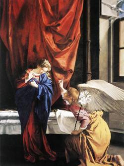 O. Gentileschi, Annunciazione