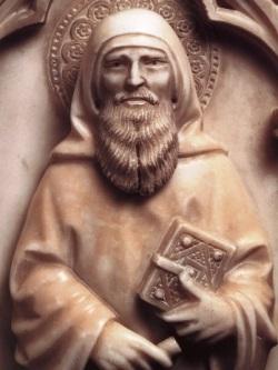 Bonino da Campione, San Paolo - particolare dell'Arca di Sant'Agostino in san Pietro in Ciel d'Oro a Pavia