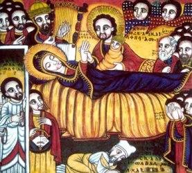 La dormizione di Maria, Icona della Chiesa di Mariam Tsion ad Aksum