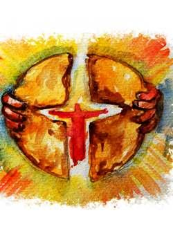 Marcello Cerrato, Gesù spezzando il pane offre se stesso