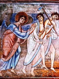 Sant'Angelo in Formis (CE), Cacciata di Adamo ed Eva dal Paradiso terrestre