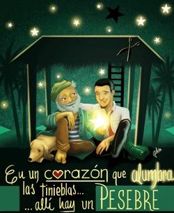 Julian Garcia Mejia, In un cuore che illumina le tenebre... lì c'è un presepe