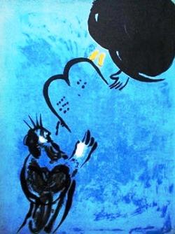 Marc Chagall, Mose riceve le tavole della legge