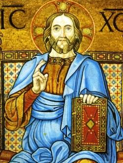 Particolare del Cristo in trono, Abside della Basilica di San Marco, Venezia