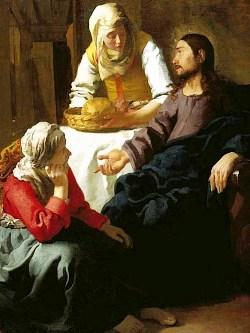 Jan Vermeer van Delft, Marta e Maria