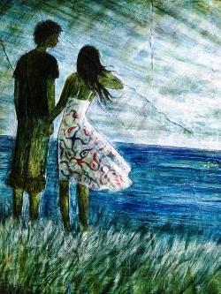 """""""La storia di Lev e Sveta è davvero qualcosa di più dell'amore"""" - Immagine: Mariarosaria Stigliano, Erano fuori sulla scogliera"""
