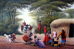 Jane Wanjeri, Maasai Homestead